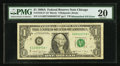 Error Notes:Mismatched Serial Numbers, Fr. 1916-G* $1 1988A Federal Reserve Note. PMG Very Fine 20.. ...