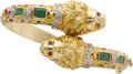 Estate Jewelry:Bracelets, Emerald, Ruby, Diamond, Gold Bracelet. ...