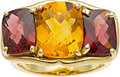 Estate Jewelry:Rings, Citrine, Garnet, Gold Ring, Carol Silvera. ...