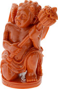 Estate Jewelry:Objects d'Art, Carved Coral Figure. ...