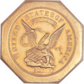 Territorial Gold, 1851 $50 LE Humbert Fifty Dollar, Lettered Edge, 880 Thous. MS63 NGC. CAC....