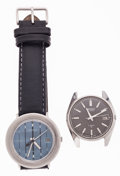 Timepieces:Wristwatch, Two Gent's Seiko Automatic Wristwatches Runners. ... (Total: 2 Items)