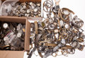 Timepieces:Other , Hundreds Of Movements & Wristwatch Cases. ...