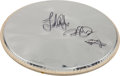 Music Memorabilia:Autographs and Signed Items, Led Zeppelin Band-Signed Drum Head....