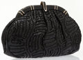 Luxury Accessories:Bags, Judith Leiber Black Quilted Snakeskin Clutch Bag. ...