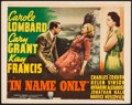"Movie Posters:Romance, In Name Only (RKO, 1939). Title Lobby Card (11"" X 14""). Romance.. ..."