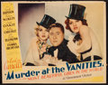 """Movie Posters:Mystery, Murder at the Vanities (Paramount, 1934). Trimmed Lobby Card (10.5""""X 13""""). Mystery.. ..."""