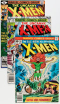 Modern Age (1980-Present):Superhero, X-Men #101, 121, and 128 Group (Marvel, 1979-83).... (Total: 3Comic Books)