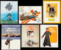 """Movie Posters:Academy Award Winners, The Sound of Music & Others Lot (20th Century Fox, 1965). Programs (6) (Various Sizes, Multiple Pages) & One Sheets (4) (27""""... (Total: 10 Items)"""