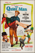 "Movie Posters:Drama, The Quiet Man (Republic, R-1957). One Sheet (27"" X 41"") Flat Folded. Drama.. ..."