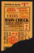 Baseball Collectibles:Tickets, 1932 World Series Game 2 Ticket Stub - Yankees Vs. Cubs....