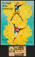 Football Collectibles:Tickets, 1951 First Annual NFL Pro Bowl Program and Ticket Stub....