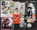 Autographs:Others, Al Rosen Collectibles Group (15) With Five Signed Items. ...