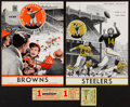 Football Collectibles:Tickets, 1955-56 New York Giants Programs and Tickets Lot of 4....