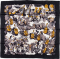 "Luxury Accessories:Accessories, Hermes 90cm Black, Gray & Tan ""Concerto,"" by Jean-Louis ClercSilk Scarf. ..."