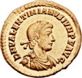 Ancients:Roman Imperial, Ancients: Valentinian II (AD 375-392). AV solidus (22mm, 4.49 gm,12h). ...