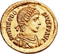 Ancients:Roman Imperial, Ancients: Theodosius I the Great (AD 379-395). AV solidus (22mm,4.41 gm, 1h)....