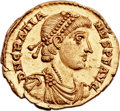 Ancients:Roman Imperial, Ancients: Gratian (AD 367-383). AV solidus (22mm, 4.54 gm,12h). ...