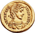 Ancients:Roman Imperial, Ancients: Theodosius I the Great (AD 379-395). AV solidus (22mm, 4.47 gm, 6h)....