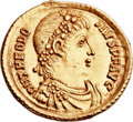 Ancients:Roman Imperial, Ancients: Theodosius I the Great (AD 379-395). AV solidus (22mm,4.47 gm, 12h)....