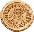 Ancients:Roman Imperial, Ancients: Anthemius, Western Roman Emperor (AD 467-472). AV solidus (22mm, 4.50 gm, 6h). ...