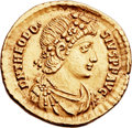 Ancients:Roman Imperial, Ancients: Theodosius I the Great (AD 379-395). AV solidus (22mm,4.45 gm, 5h). ...