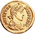 Ancients:Roman Imperial, Ancients: Theodosius I the Great (AD 379-395). AV solidus (22mm,4.44 gm, 7h). ...