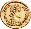 Ancients:Roman Imperial, Ancients: Theodosius I the Great (AD 379-395). AV solidus (22mm,4.44 gm, 12h). ...