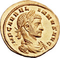 Ancients:Roman Imperial, Ancients: Aurelian (AD 270-275). AV aureus (21mm, 4.10 gm, 1h). ...