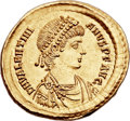 Ancients:Roman Imperial, Ancients: Valentinian II (AD 375-392). AV solidus (22mm, 4.46 gm, 6h)....