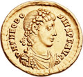 Ancients:Roman Imperial, Ancients: Theodosius I the Great (AD 379-395). AV solidus (21mm,4.33 gm, 12h)....