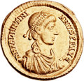 Ancients:Roman Imperial, Ancients: Valentinian II (AD 375-392). AV solidus (21mm, 4.40 gm, 1h)....