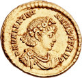 Ancients:Roman Imperial, Ancients: Valentinian II (AD 375-392). AV solidus (21mm, 4.43 gm, 12h)....