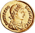 Ancients:Roman Imperial, Ancients: Theodosius I the Great (AD 379-395). AV solidus (22mm,4.56 gm, 6h). ...