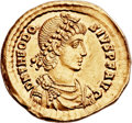 Ancients:Roman Imperial, Ancients: Theodosius I the Great (AD 379-395). AV solidus (22mm, 4.46 gm, 1h). ...