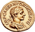 Ancients:Roman Imperial, Ancients: Elagabalus (AD 218-222). AV aureus (20mm, 6.40 gm,12h). ...