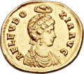 Ancients:Roman Imperial, Ancients: Aelia Eudoxia, wife of Arcadius  (Augusta, AD400-404). AV solidus (20mm, 4.29 gm, 6h). ...