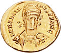 Ancients:Roman Imperial, Ancients: Marcian, Eastern Roman Emperor (AD 450-457). AV solidus (20mm, 4.23 gm, 6h). ...