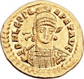 Ancients:Roman Imperial, Ancients: Leo I the Great, Eastern Roman Emperor (AD 457-474). AVsolidus (21mm, 4.31 gm, 6h). ...