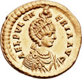 Ancients:Roman Imperial, Ancients: Aelia Pulcheria, sister of Theodosius II, wife of Marcian (Augusta, AD 414-453). AV solidus (22mm, 4.43 gm, 12h). ...