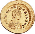 Ancients:Roman Imperial, Ancients: Aelia Pulcheria, sister of Theodosius II, wife of Marcian (Augusta AD 414-453). AV solidus (21mm, 4.45 gm, 6h). ...