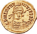 Ancients:Roman Imperial, Ancients: Anthemius, Western Roman Emperor (AD 467-472). AV solidus (22mm, 4.45 gm, 6h). ...