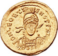 Ancients:Roman Imperial, Ancients: Leo II and Zeno, Eastern Roman Emperors (AD 474). AVsolidus (21mm, 4.51 gm, 6h). ...