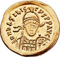 Ancients:Roman Imperial, Ancients: Basiliscus, Eastern Roman Emperor (AD 475-476). AV solidus (21mm, 4.50 gm, 6h). ...