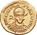 Ancients:Roman Imperial, Ancients: Basiliscus and Marcus, Eastern Roman Emperors (AD475-476). AV solidus (21mm, 4.44 gm, 6h)....