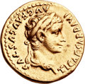 Ancients:Roman Imperial, Ancients: Tiberius (AD 14-37). AV aureus (19mm, 7.86 gm, 9h). ...