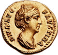 Ancients:Roman Imperial, Ancients: Diva Faustina Senior, wife of Antoninus Pius (died AD141). AV aureus (20mm, 7.24 gm, 6h). ...