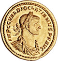 Ancients:Roman Imperial, Ancients: Diocletian (AD 284-305). AV aureus (22mm, 5.36 gm,6h). ...