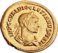 Ancients:Roman Imperial, Ancients: Diocletian (AD 284-305). AV aureus (20mm, 4.67 gm, 12h)....