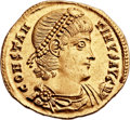 Ancients:Roman Imperial, Ancients: Constantine II (AD 337-340). AV solidus (22mm, 4.48 gm, 5h)....